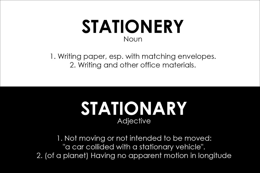 I sell stationery not stationary.